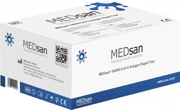 MEDsan SARS-CoV-2 Antigen Rapid Test / Profitest 25er Pack/ tiefer Nasen-/Rachenabstrich