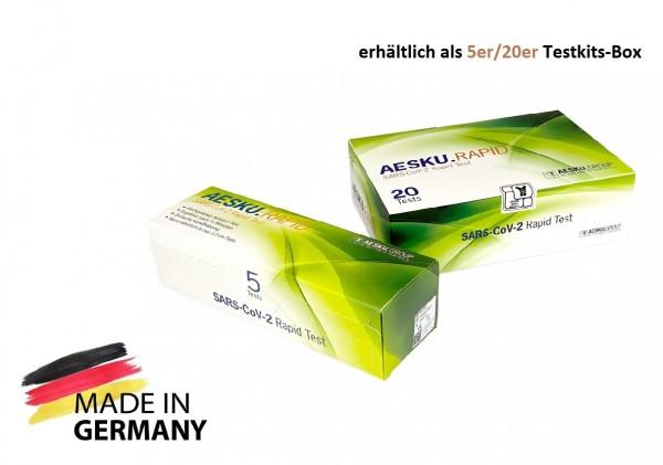AESKU Antigen Schnelltest - Nasen-Abstrich (2,5cm tief)